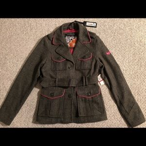 NWT Super Dry Military Style Jacket XS NEW